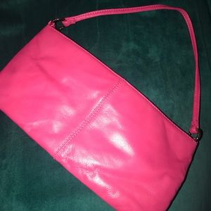 EXPRESS hot pink genuine leather purse